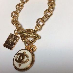 Jewelry - Authentic Chanel button designer bracelet